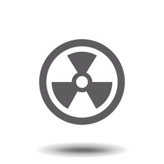 radiation symbol vector flat