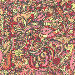 Abstract, floral pattern, illustration, hand drawn doodle
