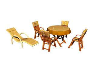 Gartenmöbel mit Tisch und Stühlen