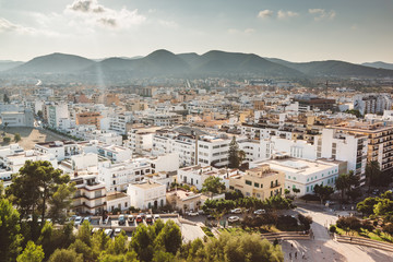 Ibiza town cityscape