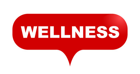 red vector bubble banner wellness