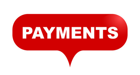 red vector bubble banner payments