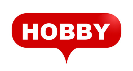 red vector bubble banner hobby