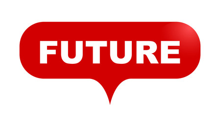 red vector bubble banner future