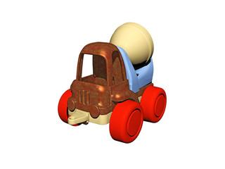Bunter Betonmischer als Spielzeug