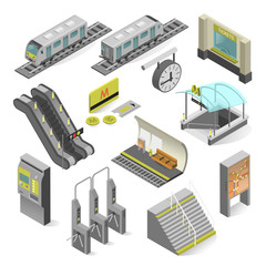 Metro station isometric