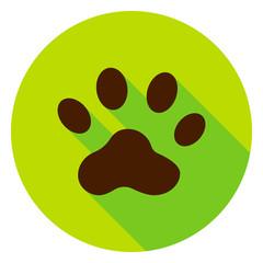 Animal Track Circle Icon