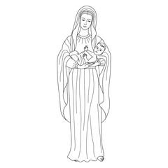 Virgin Mary holding baby Jesus