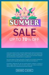 Summer Sale Up 70 Off Advertisement Poster Design