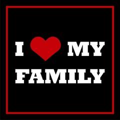 I Love My Family icon sign logo