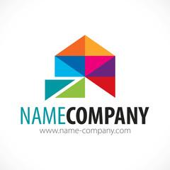 logo architecte décorateur artisan peintre peinture design