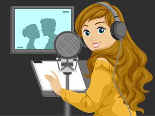 Teen Girl Voice Actor Illustration