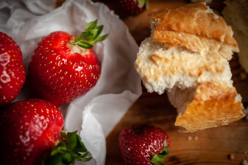 Strowberry's with bread