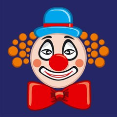 Vector illustration icons clown