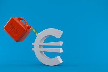 Euro currency symbol with gasoline