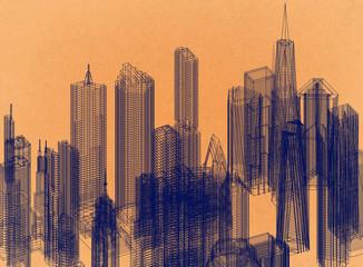 Town Design - Retro Architect Blueprint