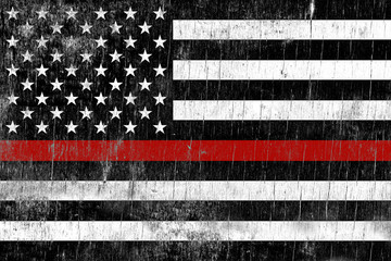 Firefighter Support Weathered Flag Background