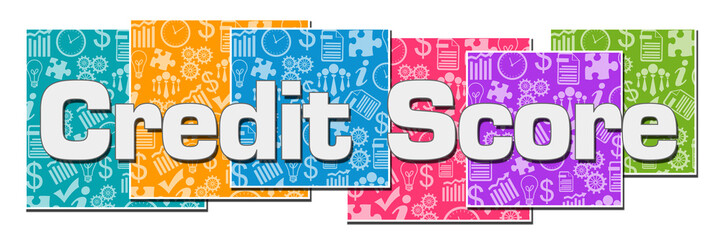 Credit Score Business Texture Colorful Blocks