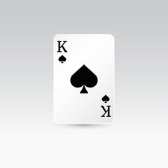 King of spades playing card isolated