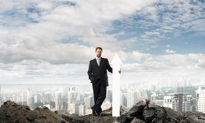 Businessman startup conceptual image