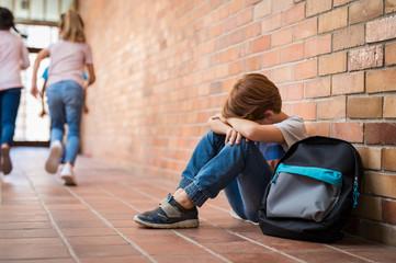 Bullying at school Wall mural