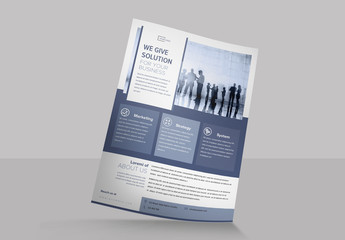 Flyer Layout with Blue-Gray Accents