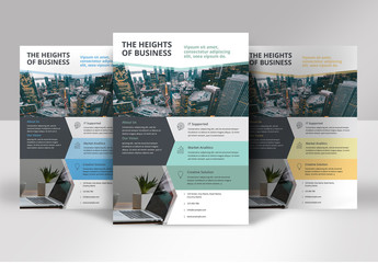 Flyer Layout with Geometric Shapes