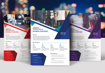 Flyer Layout with Abstract Geometric Shapes