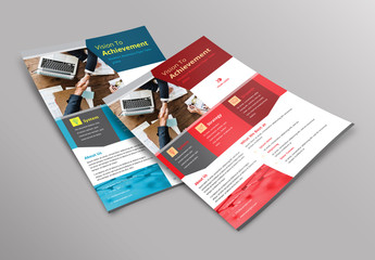 Flyer Layout with Geometric Blocks