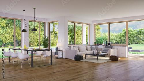 Wohnzimmer In Luxus Villa Mit Garten Modern Living Room In Luxury