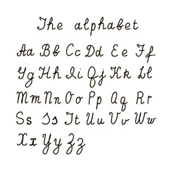 The alphabet in an isolated background