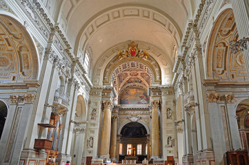 Bologna, Italy, Saint Peter Cathedral  interior.