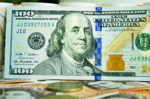 British Pounds And Us Dollars Stock Photo Royalty Free