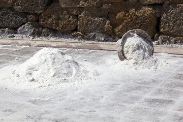 Salt traditionally collected
