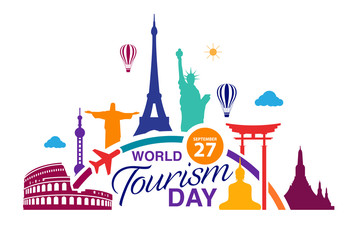 World Tourism Day logo template vector illustration