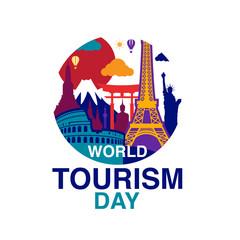World Tourism Day logo template vector illustration