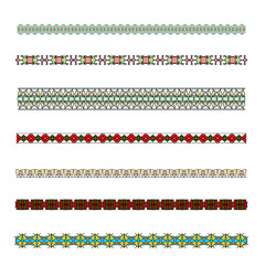 Colored borders patterned strip for design.  Patterned, decorative frame for decorating invitations, postcards and other printed products.