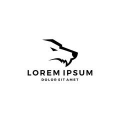 wolf head fang logo icon simple minimal minimalist
