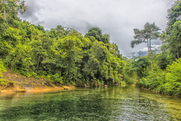 the jungle of Thailand and  lake