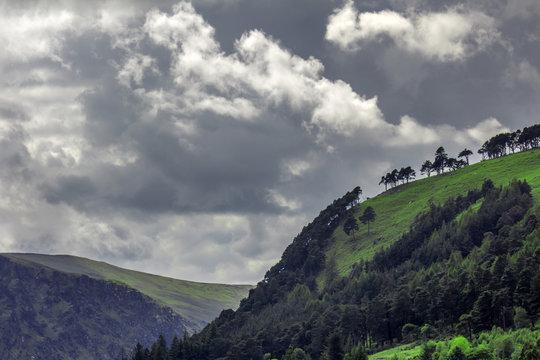 Famous medieval christian monastery Glendalough