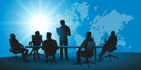 réunion - entreprise - international - commerce - monde - présentation - internationale - marché