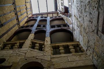 Wall Mural - Auch, escalier de pierre et de bois, Gers, occitanie, France.