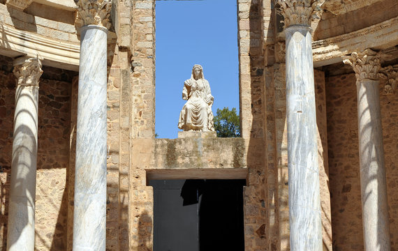 Teatro romano de Mérida, Extremadura, España