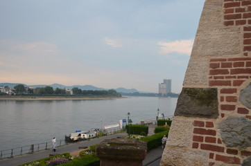 Over looking the Rhein river in Bonn