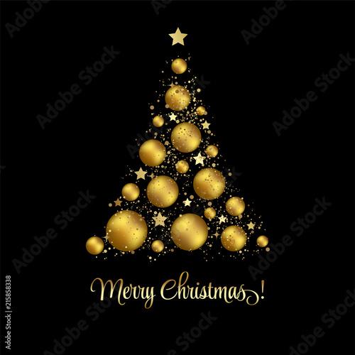 Elegant Christmas Background Hd.Elegant Christmas Background With Gold Baubles Stock Image