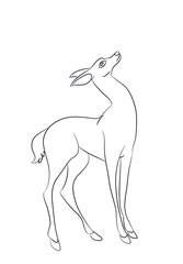 deer vector line