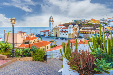 Wall Mural - View of Candelaria town of  Tenerife, Canary Islands, Spain