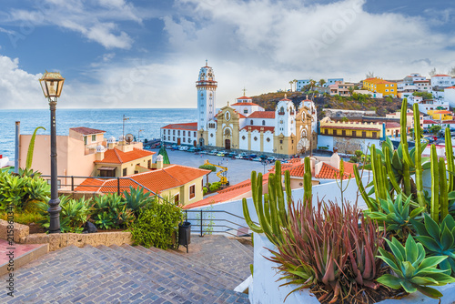 Wall mural View of Candelaria town of  Tenerife, Canary Islands, Spain