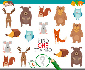 find one animal of a kind game for kids