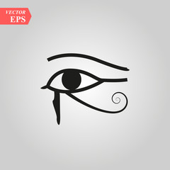 Sun Eye of Horus - reverse Moon Eye of Thoth EYE OF HORUS - vector image ancient Egyptian symbol of protection